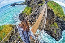 The wobbly bridge of Carrick-a-Rede